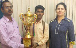 Rizwan Shaikh awarded Gold Medal in Kumite event in All India Shito-Ryu Open Karate Championship
