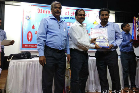 Felicitation for Blood Donation