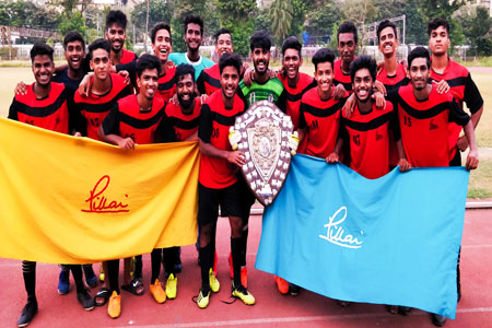 Pillai College crowned the 2018 Mumbai University Football Champions